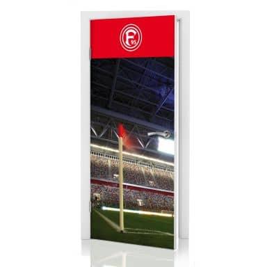 Türdesign Fortuna Düsseldorf Stadion Eckfahne