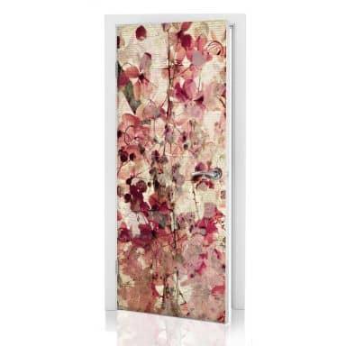 Door decor: Vintage Flowers