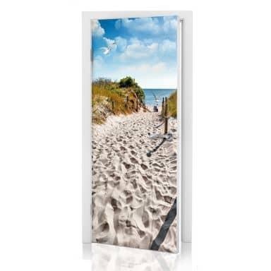 Adesivo per porta - Way to the Beach