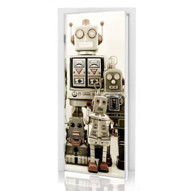 Türdesign Versammlung der Roboter