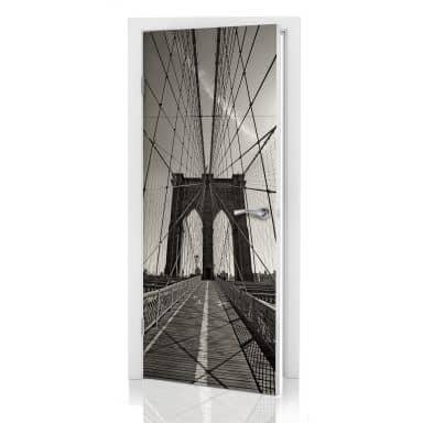 Door decor: Brooklyn Bridge
