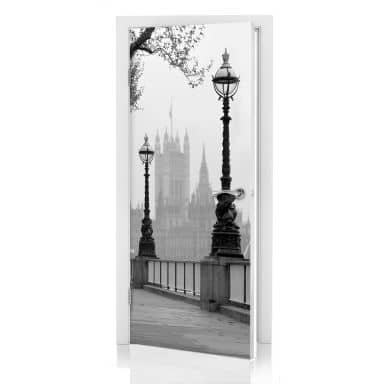 Door decor: Palace of Westminster