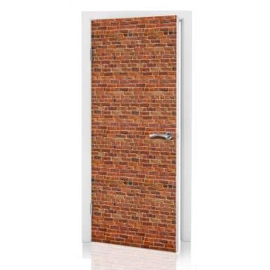 Türdesign Ziegelsteinmauer