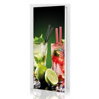 Adesivo per porta - Cocktail Hour 01