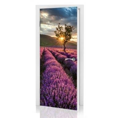 Lavendel i provence- dørsticker