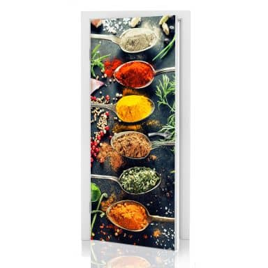 Door decor: Herbs Diversity 01