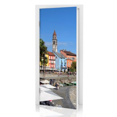 Türdesign Hafenpromenade am Lago Maggiore