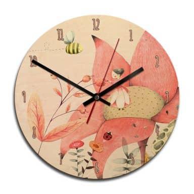 Horloge murale en bois - Loske - Poucette