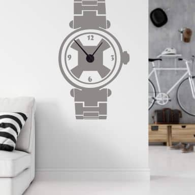 Sport Watch Wall sticker + Clock