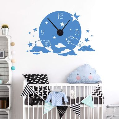 Sheep in the Clouds Wall sticker + Clock