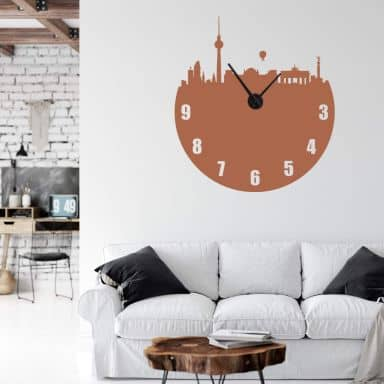 Berlin Wall sticker + Clock