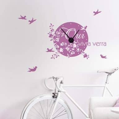 Sticker mural - Horloge qui vivra verra