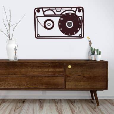Sticker mural - Horloge Cassette Audio Vintage