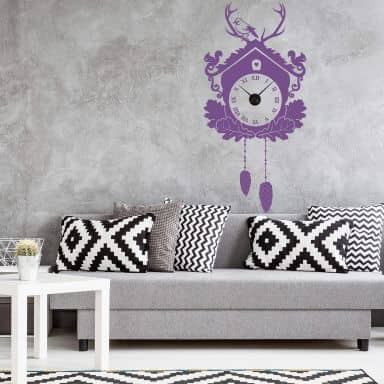 wandtattoo uhr in vielen designs wall. Black Bedroom Furniture Sets. Home Design Ideas