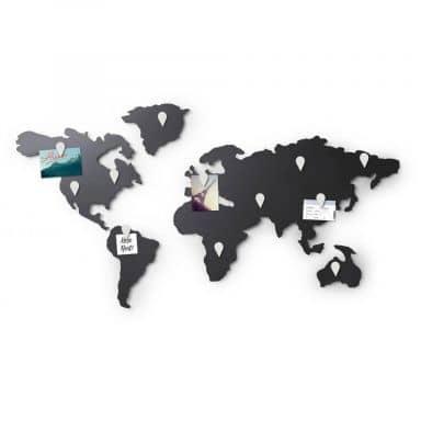 Magnetische Weltkarte Mappit Titanium