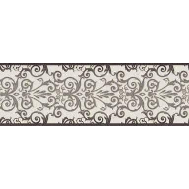Bordure Versace Wallpaper Herald métallique, noir, blanc