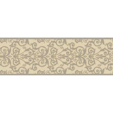 Bordure Versace Wallpaper Herald crème, gris, métallique