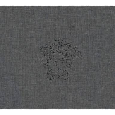 Versace wallpaper non-woven embroidered wallpaper Medusa cream, metallic