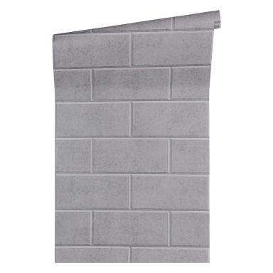 Versace wallpaper non-woven wallpaper Via Gesù grey