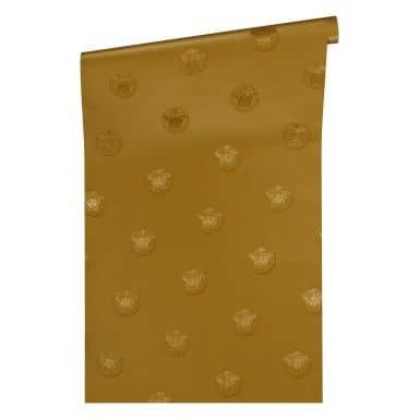 Versace wallpaper non-woven wallpaper Vanitas yellow, metallic
