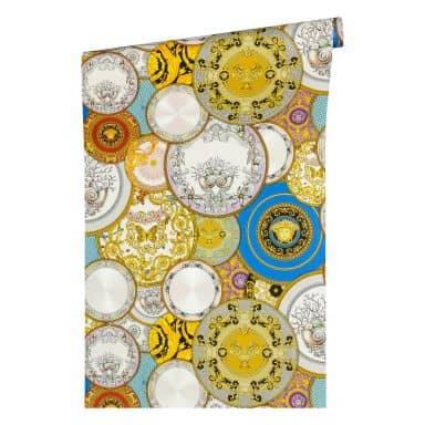 Versace wallpaper non-woven wallpaper Les Etoiles de la Mer 2 multicolored, metallic