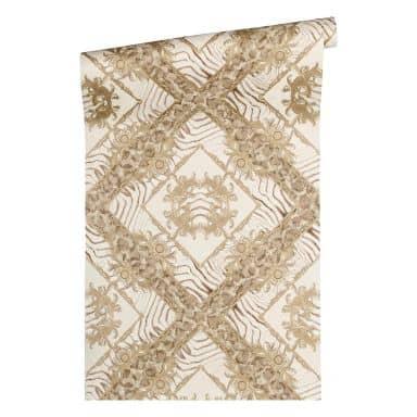 Versace wallpaper Vliestapete Vasmara Barocktapete mit Ornamenten beige, weiß, creme