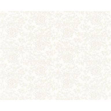 Versace wallpaper non-woven wallpaper Barocco Flowers cream, metallic