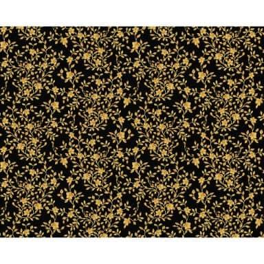Versace wallpaper non-woven wallpaper Barocco Flowers metallic, black