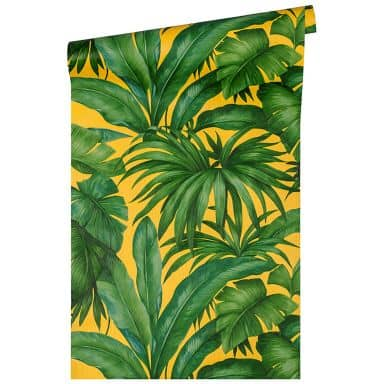 Versace wallpaper non-woven wallpaper Giungla yellow, green