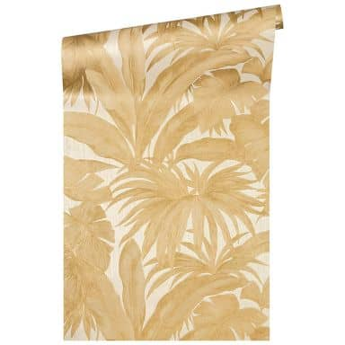 Versace wallpaper non-woven wallpaper Giungla cream, metallic