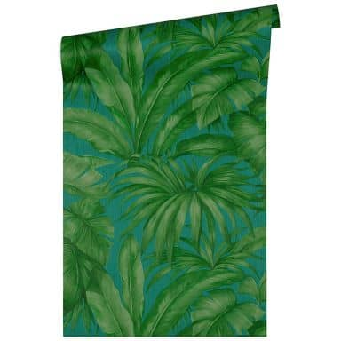 Versace wallpaper non-woven wallpaper Giungla blue, green