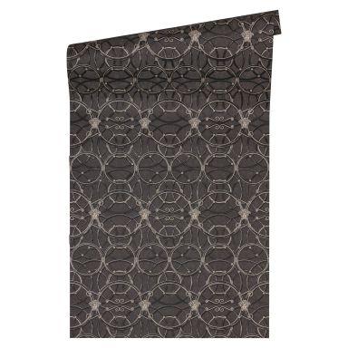 Versace Papier peint de designer -  argent, Noir