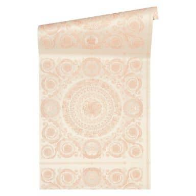 Versace wallpaper Vliestapete Heritage Barocktapete mit Ornamenten rosa, silber