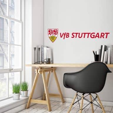 Wandtattoo VfB Stuttgart Logo Schriftzug