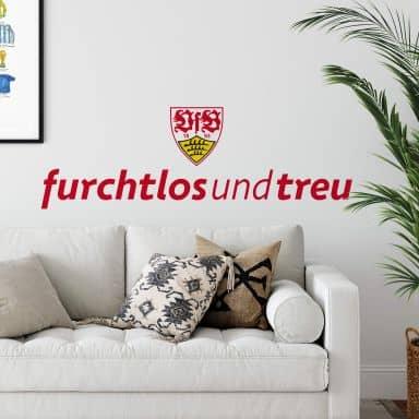 Wandtattoo VfB Stuttgart furchtlos und treu