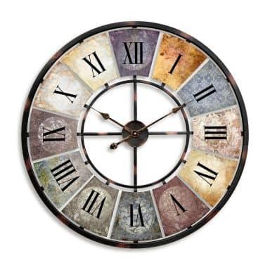 Vintage XXL Antique Metal Wall Clock Shabby Style Ø80 cm