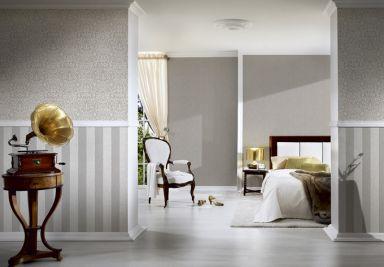 Architects Paper pattern wallpaper textile wallpaper Tessuto 2 beige, cream