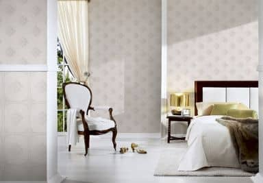 Architects Paper pattern wallpaper textile wallpaper Tessuto 2 cream, grey