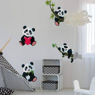 Wall Sticker Set XXL - Panda Bears