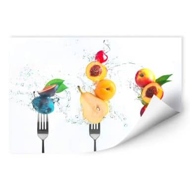 Wallprint Belenko - Splashing Fruits