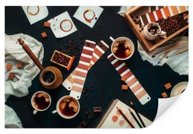 Wallprint Belenko - Shades of Coffee