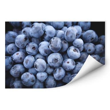Wall print W - Blueberries