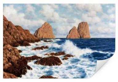 Wallprint Choultsé - Die Felsen bei Capri