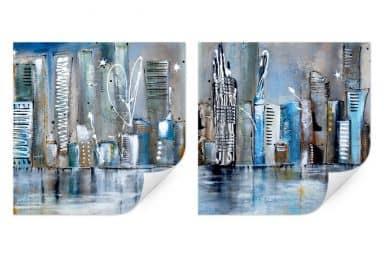 Wall print W - Fedrau - Skyline (2-piece)
