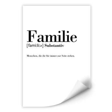 Wallprint Grammatik Familie