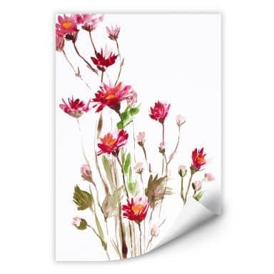 Wallprint W - Illustrierte Wildblume