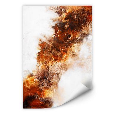 Zelfklevende Poster - Fedrau - Fluid Gold