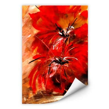 Wall print Niksic - Fire Flowers