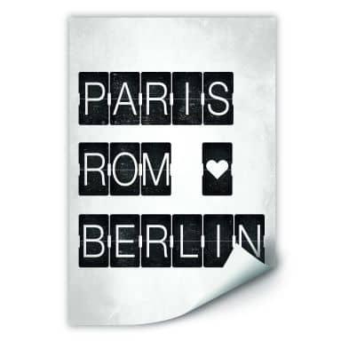 Wallprint W - Paris-Rom-Berlin