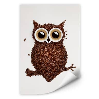 Wall print W - Coffee Owl